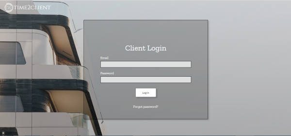 Login screen with industrial theme