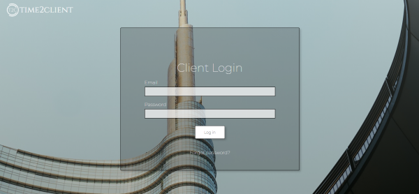 Login screen with modern theme